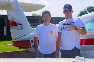 Álvaro, de Itapema, encontrou dificuldades em Foz do Iguaçu mas também fez um bom voo